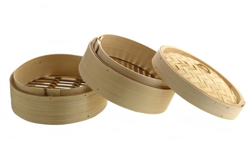 BAMBUSOWY PAROWAR 20 cm 2 poziomy / BAMBOO FOOD STEAMER 20 cm 2 layer + cover 8712442959335 / 22276516