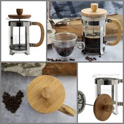 Zaparzacz tłokowy szklany +bambusowe elementy 800ml / Brewer 800 ml BAMBOO stainless steel 8712442959601 / 22171062