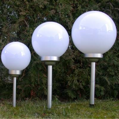 LED SOLAR Lampa ogrodowa 25 cm / LED Solar ball 25cm to ground or pots 4038732769748 / 76974