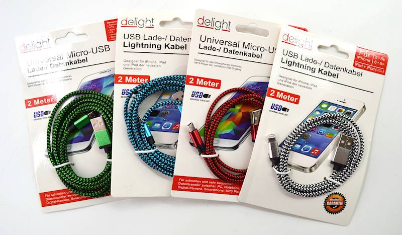 """PHONE CHARGING data cable """"MICRO-USB"""" 2m 77013"""