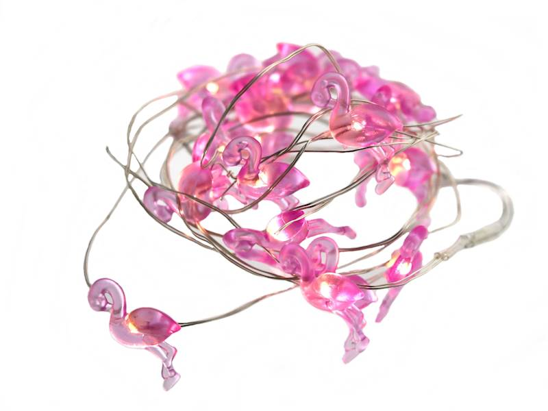 FLAMINGO ledowe lampki 20 szt na baterie / LED FLAMINGO wire chain small 20 pcs 8712442951797 / 23362214