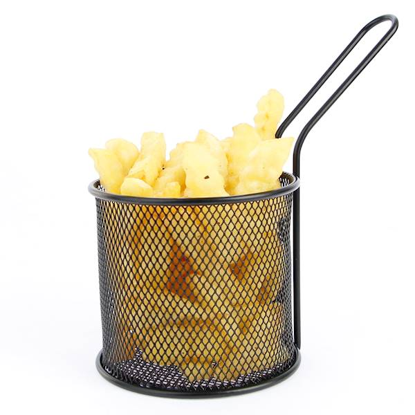 Stainless French fries bascet 22275589 BLACK ROUND