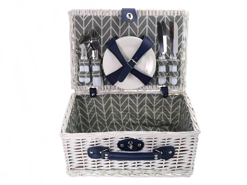 Picnicbasket 4 people WHITE NEW 23369204