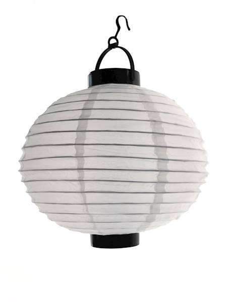LED lampion SOLAR tekstylny 25 cm / LED Solar WHITE BALL garden light 25 cm 8712442953654 / 23363346