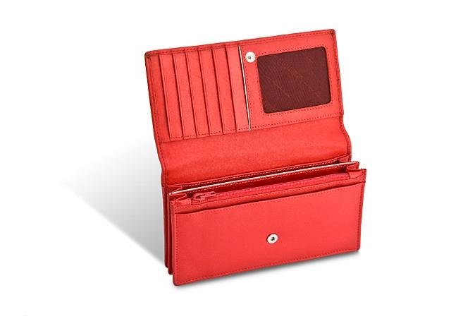 VALENTINI PORTFEL DAMSKI 01-154-550-4 RED/WHITE