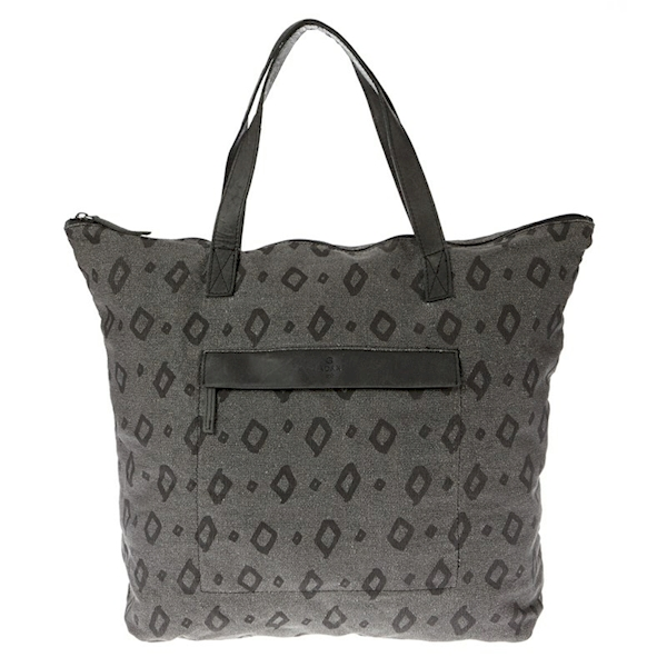 ADAX TORBA 697847 CPH CANVAS SHOPPER PRINT BLACK