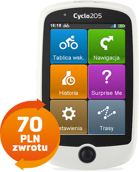 Mio Cyclo 205 Central Europe   CASHBACK 70 PLN