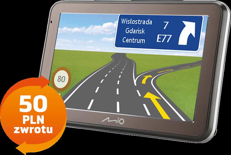Mio Spirit 7500 Europa - dożywotnia aktualizacja  CASH BACK 50 pln