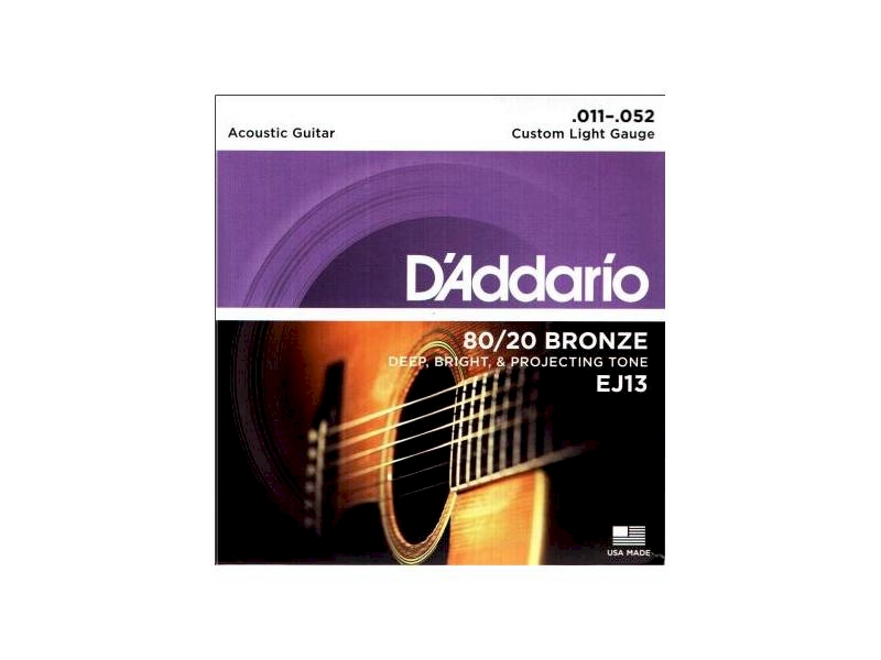 Struny D'Addario EJ13 011-052 akustyk