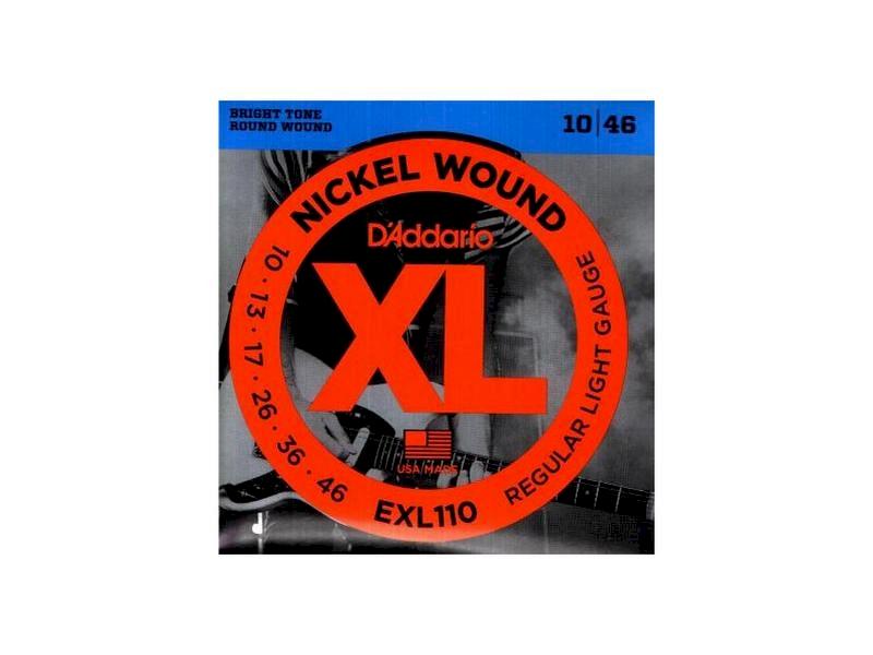 Struny D'Addario EXL110 010-046 elektryk