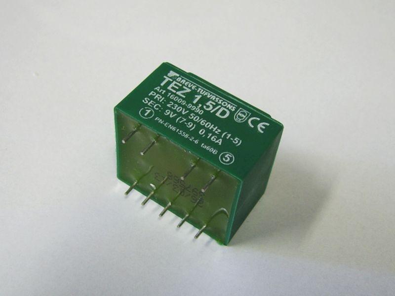 Transformator TEZ 1,5/D 230/9V 0,16A