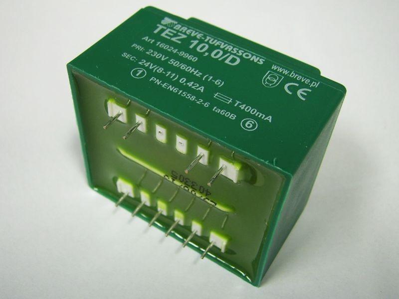 Transformator TEZ 10/D 230/24V 0,42A