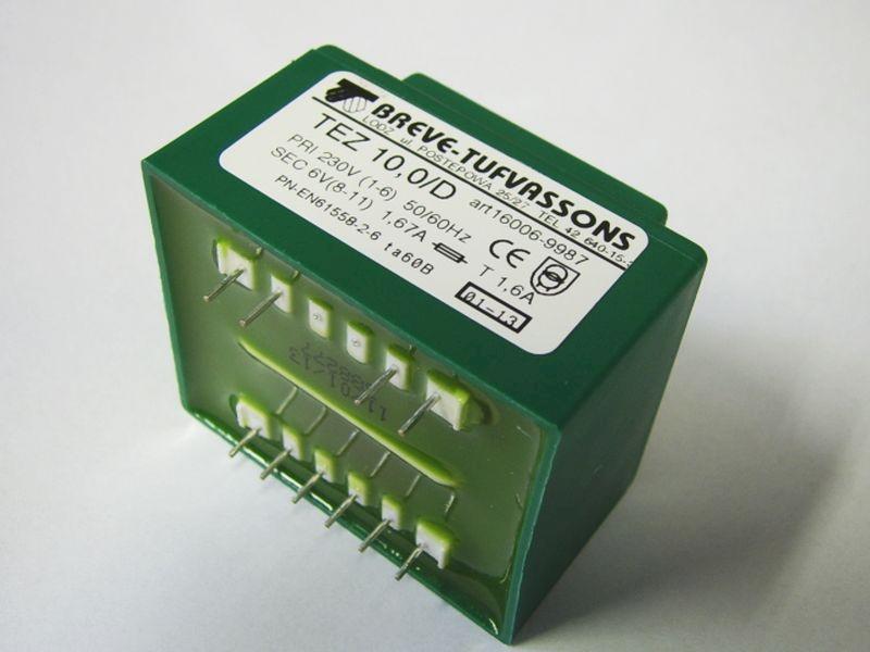 Transformator TEZ 10/D 230/6V 1,67A