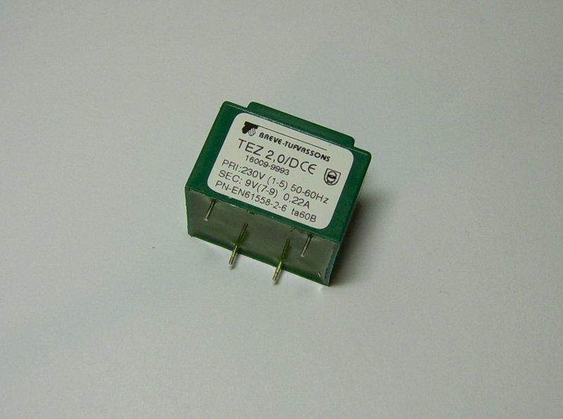 Transformator TEZ 2.0/D 230/9V 0,22A