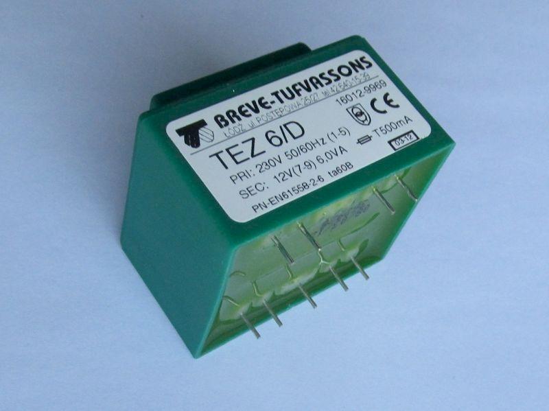 Transformator TEZ 6.0/D 230/12V 0,5A