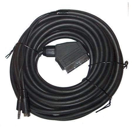 Kabel Euro wtyk SVHS wtyk + Jack 3,5 wtyk 10m