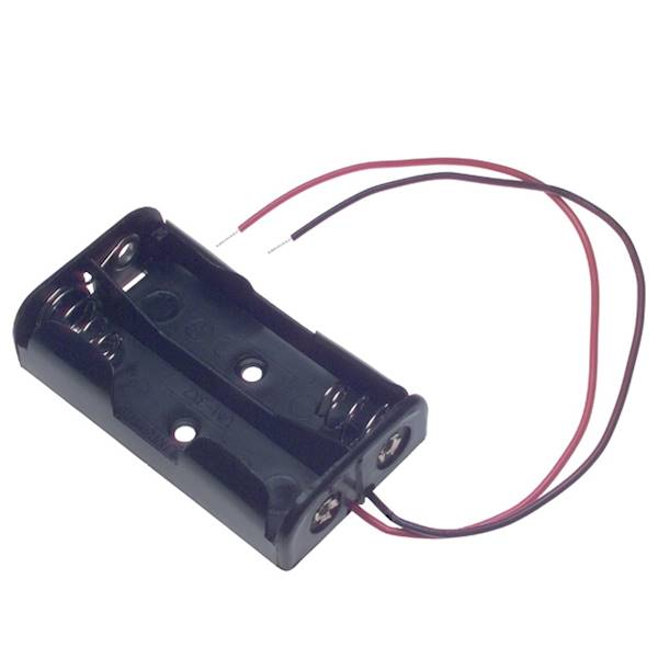 Koszyk na 2 baterie typu AAA (1,5V)