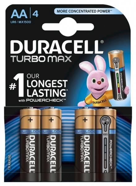 Bateria LR6 AA Duracell turbo max