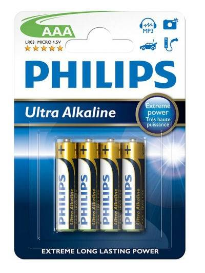 Bateria LR03 AAA Philips ultra alkaline