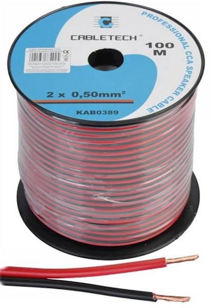 Kabel głośnikowy 2 x 0,50mm czarno- czerwony