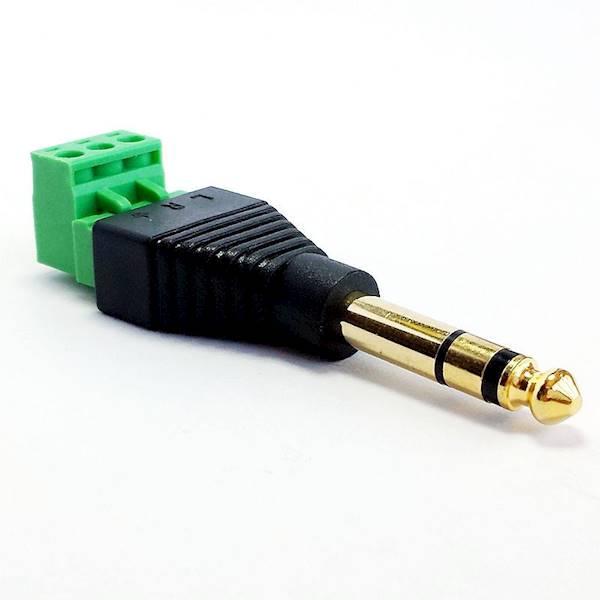 Wtyk Jack stereo 6.3mm z listwą rozłączną