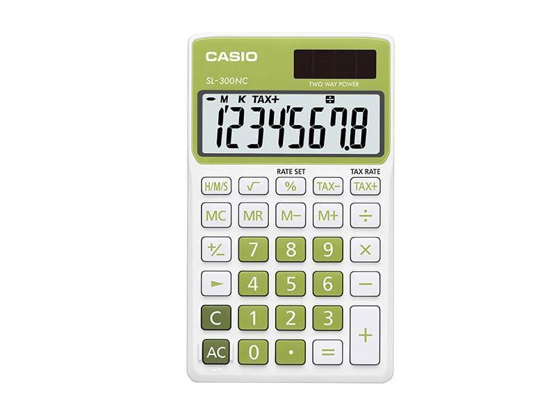 Kalkulator kieszonkowy CASIO SL-300NC-GN-S-EH
