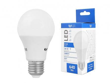 Żarówka LED TFO E27 8W 230V 6000K biały zimny