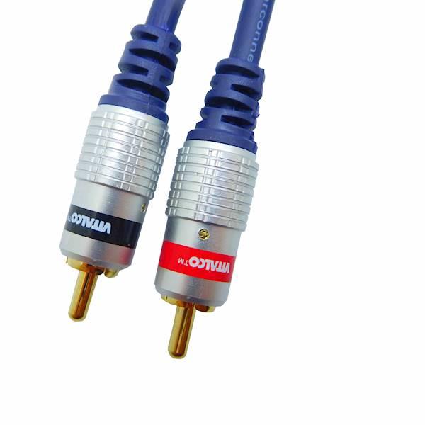 Kabel  RCA 2 xwtyk -  RCA 2 x wtyk 0,5m Vitalco