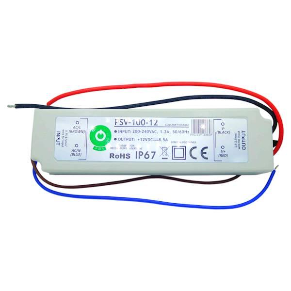 Zasilacz hermetyczny LED IP67 100W 12V 8,3A