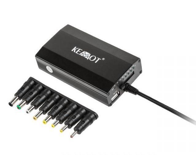 Zasilacz do laptopa 100-240/15-24 100W USB