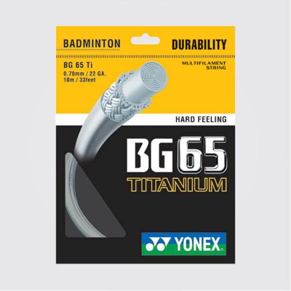 Naciąg badminton Yonex BG 65 TI Titanium 0,70mm Biały SET 10m