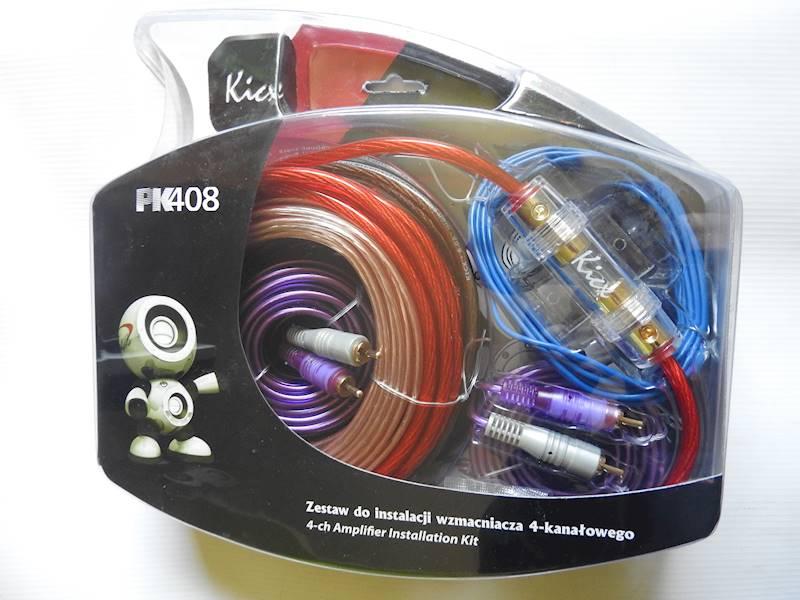 KICX PK-408 - zestaw kabli do montażu wzmacniacza