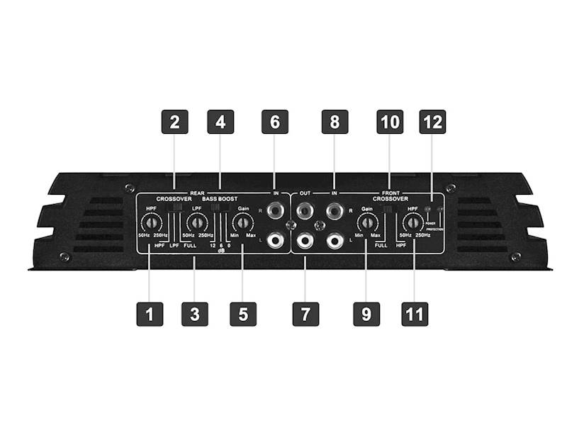 CRUNCH GPX-1000.4 4-kanałowy