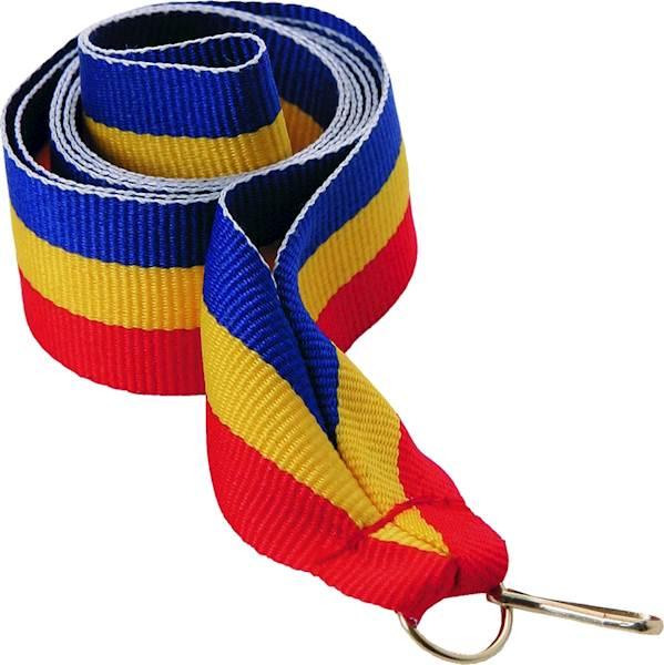 wstążka niebiesko/żółto/czerwona szer. 2 cm