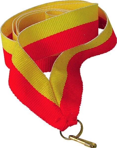 wstążka żółto/czerwona 1 cm