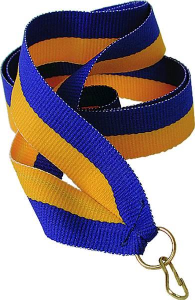 wstążka żółto/niebieska szer. 2 cm