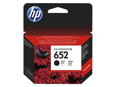 cartridge HP 652 czarny F6V25AE BHK