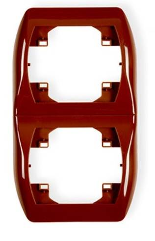 Ramka podwójna pionowa brąz 4RV-2 KARLIK