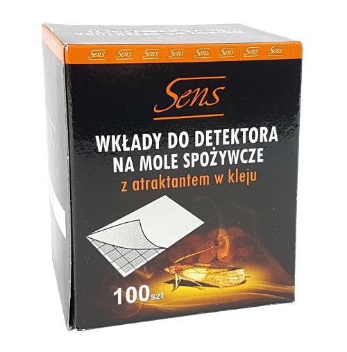Detektor wkład na mole spożywcze 100 szt 76 x 58 mm Sens