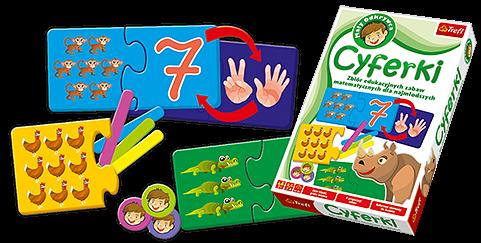 Gra edukacyjna Cyferki Mały Odkrywca Trefl