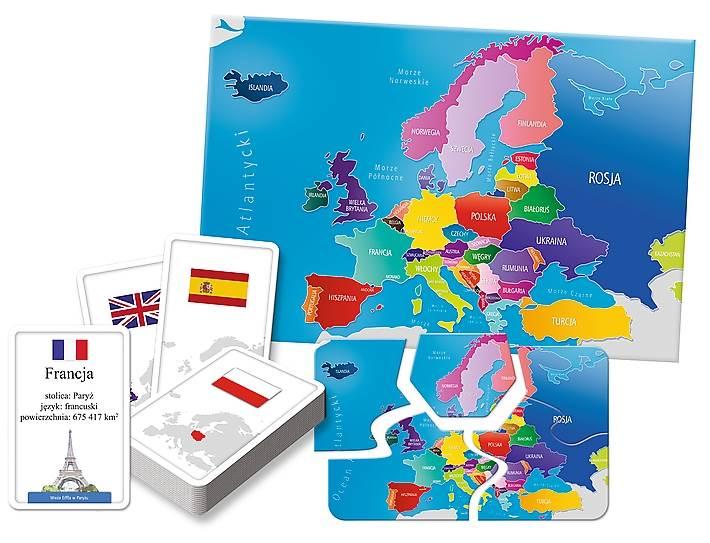 Gra edukacyjna Europa Mały Odkrywca idzie do szkoły Trefl
