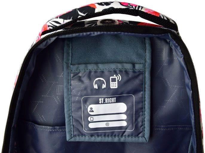 Plecak 4-komorowy FLAMINGO PINK & BLACK BP25 St.Right Majewski
