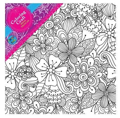 Obraz 30x30 Kwiaty Coloring Craft Stnux