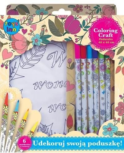 Poszewka do kolorowania Kwiaty Coloring Craft Stnux