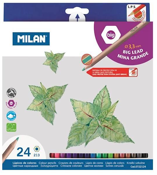 Kredki 24 kolory sześciokątne Milan