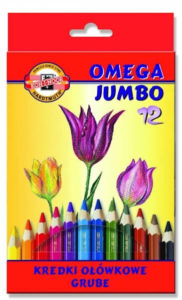 Kredki 12 kolorów Omega Jumbo Koh i Noor
