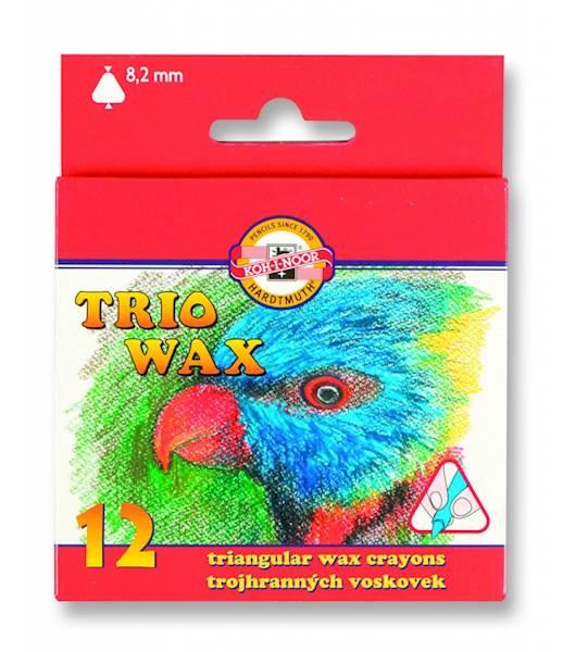 Kredki 12 kolorów TRIO WAX  Koh i Noor