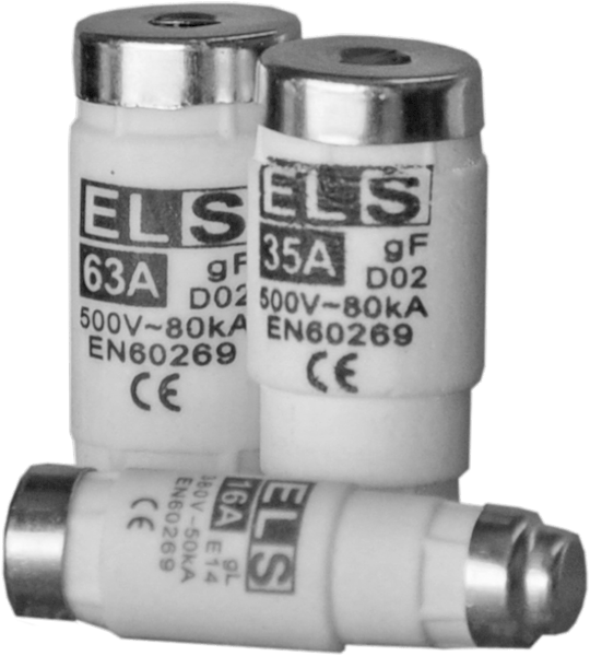 Wkładka topikowa ELS D02 25A gG/gL 380V 50kA E18