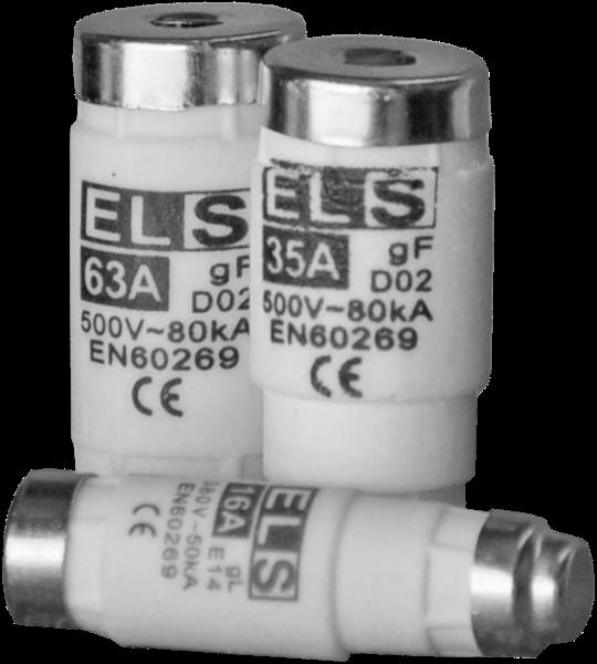 Wkładka topikowa ELS D01 6A gF 380V 50kA E14