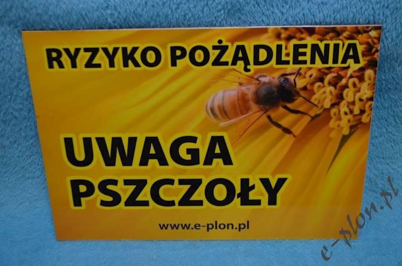 "Tabliczka ""Uwaga pszczoły"" format A4 - wzór X"